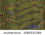 glitch universe background. old ... | Shutterstock . vector #1085531384