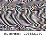 glitch psychedelic background.... | Shutterstock . vector #1085531390