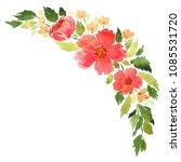 loose watercolor floral... | Shutterstock . vector #1085531720