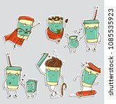 Set Of Coffee Characters ...
