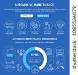 line illustration of automotive ... | Shutterstock .eps vector #1085536079
