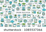 online education banner. modern ... | Shutterstock .eps vector #1085537366