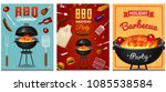 barbecue grill elements set... | Shutterstock .eps vector #1085538584