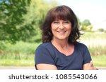 Stock photo beautiful happy woman outside 1085543066