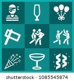filled party icon set such as... | Shutterstock .eps vector #1085545874