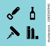 filled bottles icon set such as ... | Shutterstock .eps vector #1085545940