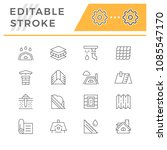 set line icons of roof | Shutterstock .eps vector #1085547170