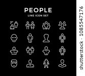 set line icons of people | Shutterstock .eps vector #1085547176