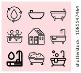 outline bathroom icon set such... | Shutterstock .eps vector #1085547464