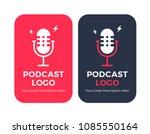podcast radio icon illustration ... | Shutterstock .eps vector #1085550164