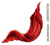 vector 3d realistic flying red... | Shutterstock .eps vector #1085550734