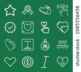 outline set of 16 shapes icons... | Shutterstock .eps vector #1085556458