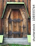 The Wooden Door Of The Church...