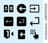 filled set of 9 enter icons... | Shutterstock .eps vector #1085559020