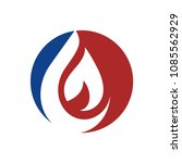 oil  water  drop. flame logo... | Shutterstock .eps vector #1085562929