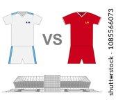 football match. poster. finale...   Shutterstock .eps vector #1085566073