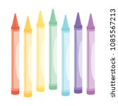 set of coloring crayons vector... | Shutterstock .eps vector #1085567213