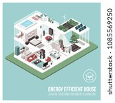 contemporary energy efficient... | Shutterstock .eps vector #1085569250