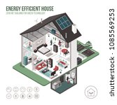 contemporary energy efficient... | Shutterstock .eps vector #1085569253