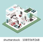 contemporary energy efficient... | Shutterstock .eps vector #1085569268