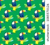 seamless pattern with cute... | Shutterstock .eps vector #1085570126