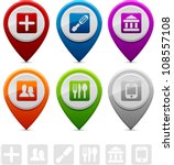 location markers | Shutterstock .eps vector #108557108