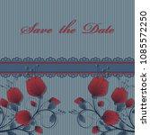 vector flower card  save the... | Shutterstock .eps vector #1085572250