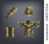 set of fantasy armor for game.... | Shutterstock .eps vector #1085572316