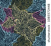 hand drawn floral vintage... | Shutterstock .eps vector #1085572448
