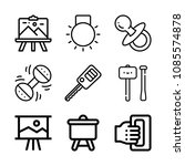 tools related set of 9 icons... | Shutterstock .eps vector #1085574878