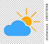 weather forecast icon in flat... | Shutterstock .eps vector #1085578568
