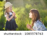 candid loving family of mother... | Shutterstock . vector #1085578763