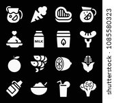food related set of 16 icons... | Shutterstock .eps vector #1085580323