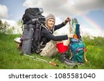 an outdated way of traveling is ... | Shutterstock . vector #1085581040