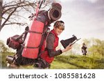 an outdated way of traveling is ... | Shutterstock . vector #1085581628