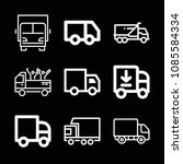 lorry related set of 9 icons...   Shutterstock .eps vector #1085584334