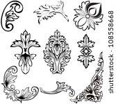 vector illustration. set of... | Shutterstock .eps vector #108558668
