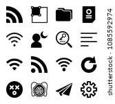 interface related set of 16...   Shutterstock .eps vector #1085592974