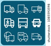 lorry related set of 9 icons...   Shutterstock .eps vector #1085593598