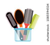 a large set of different types... | Shutterstock .eps vector #1085594534