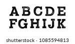 Sketched Abc Set. Font Pencil...