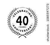 40 years design template. 40th... | Shutterstock .eps vector #1085597273