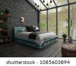 bedroom interior design 3d... | Shutterstock . vector #1085603894
