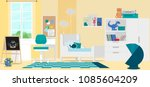 interior design of a modern... | Shutterstock .eps vector #1085604209