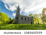 beautiful old church and... | Shutterstock . vector #1085605559