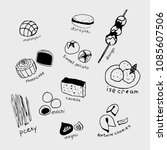 hand drawn collection of the... | Shutterstock .eps vector #1085607506