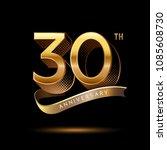 30th anniversary celebration... | Shutterstock .eps vector #1085608730