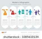 infographics design vector with ... | Shutterstock .eps vector #1085610134