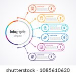 thin line infographics templete ... | Shutterstock .eps vector #1085610620