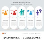 infographics design vector with ... | Shutterstock .eps vector #1085610956